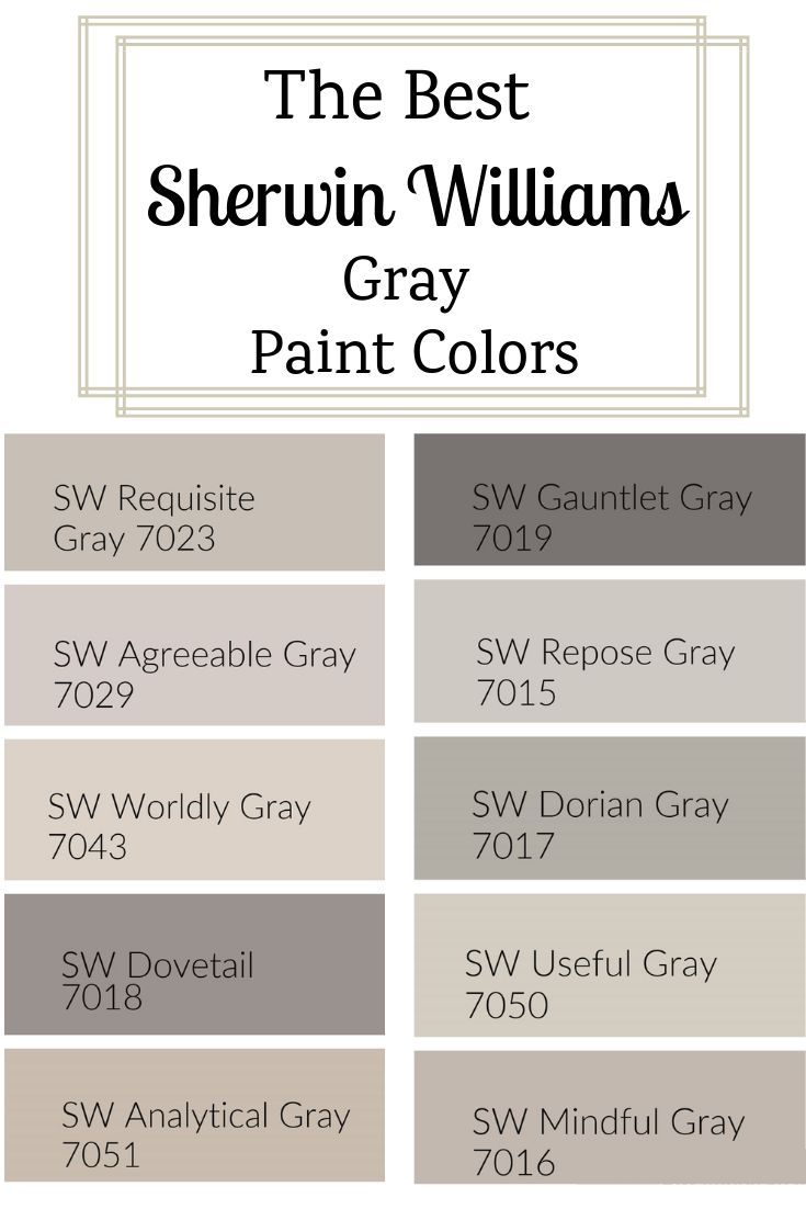 Sherwin Williams Gray Paint Colors Grey Paint Colors Farmhouse