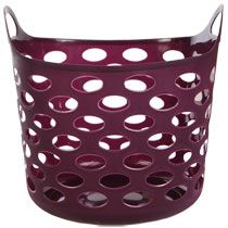 "Bulk Round Flexible Vented Plastic Storage Totes with Handles, 12x11¾x11"" at DollarTree.com"