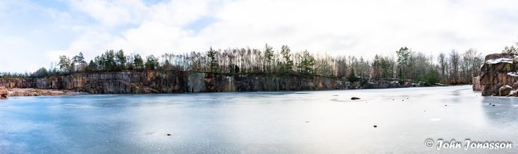 Panorama of Vånga quarry