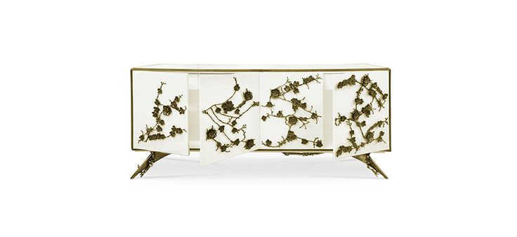 Interior composed of 4 drawers embellished with organic work hardware in aged brass, finish to match exterior | Discover more master bedroom ideas: http://masterbedroomideas.eu