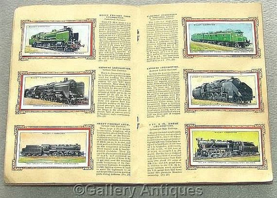 Railway Engines Full Set of 50 Cigarette Cards in Original Album by W. D. & H. O. Wills Issued in 1936 (ref: 3190)