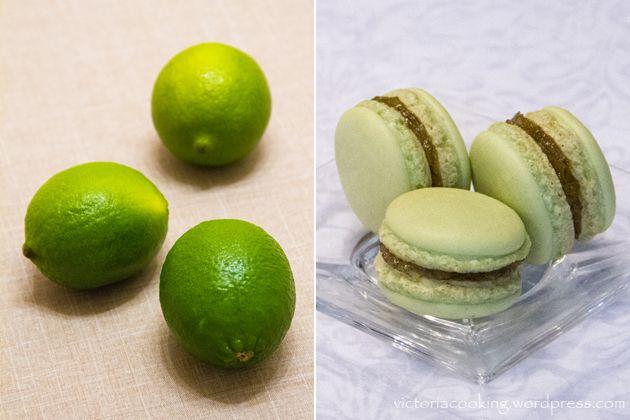 Тесто - рецепт Пьера Эрме из книги «Macaron» Начинка – лаймовое желе
