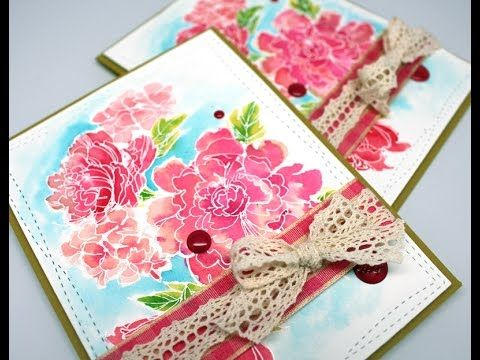 Gorgeous Sketchy Blooms Card by Amy Rysavy