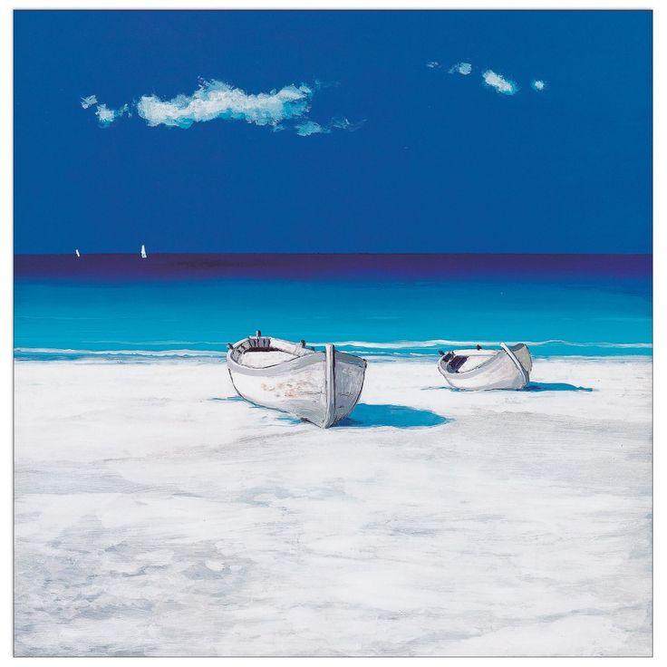 MONDELLI - Barche nel blu 40x40 cm #artprints #interior #design #Degas #art #prints  Scopri Descrizione e Prezzo http://www.artopweb.com/EC16867