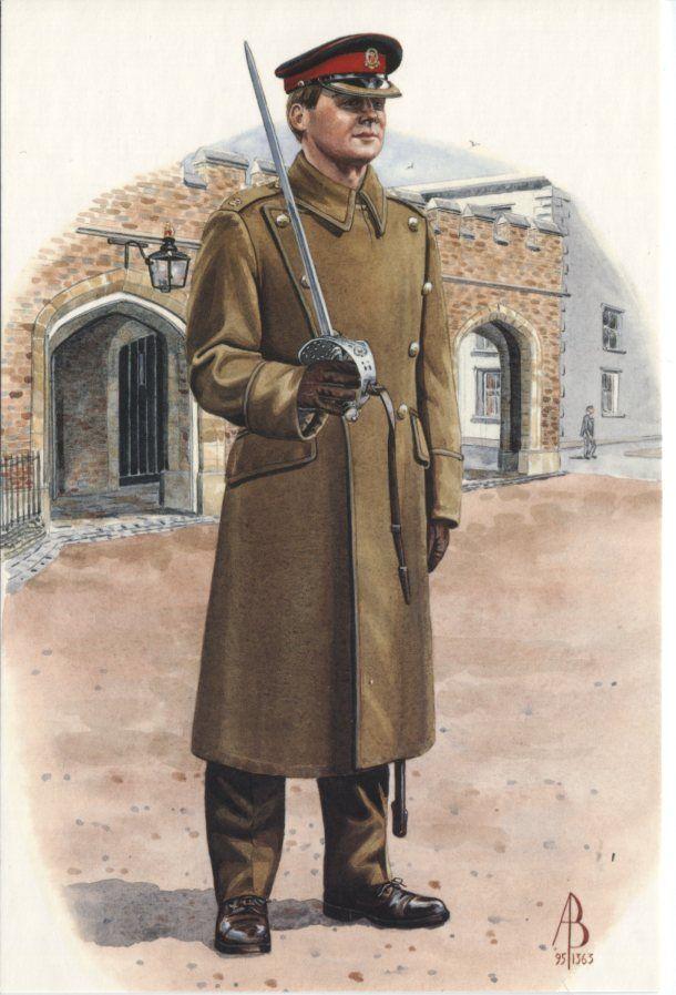 Alix Baker Postcard - AB24/9 Major, 1st Battalion, Queens Lancashire Regiment, Public Duties, St James's Palace 1995