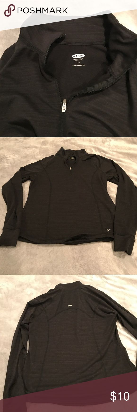 Old navy zip up Black old navy zip up. Old Navy Tops Sweatshirts & Hoodies