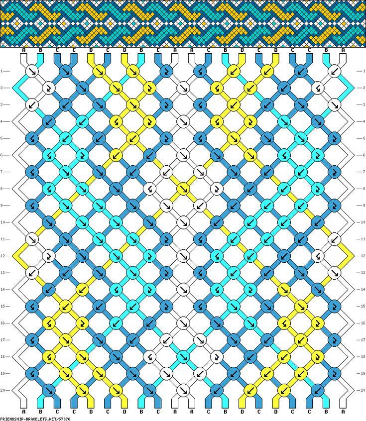 Friendship Bracelet Pattern 57076