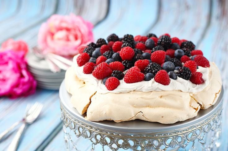 My first Pavlova! Made with organic ingredients. Topped with coconut cream & organic berries. So delicious! #pavlova #foodphotography