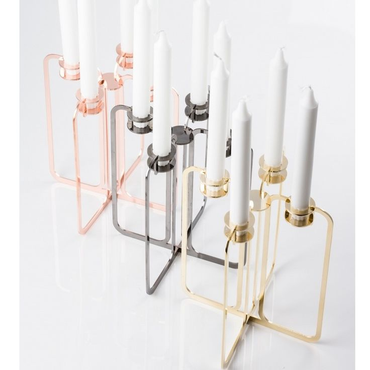 Quartet Candle Holder from be&liv, in 3 fantastic colours, Gold, Copper & Balck Chrome. Stunning innovative design from Finland & just beautiful. Which one is your favourite?