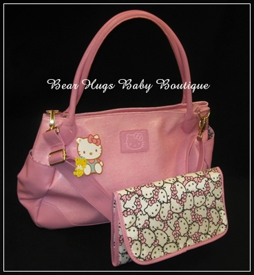 Pink Hello Kitty Diaper Bag + Changing Pad by Sanrio....... #HelloBaby
