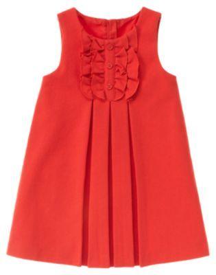 girls red dress, Janie and Jack
