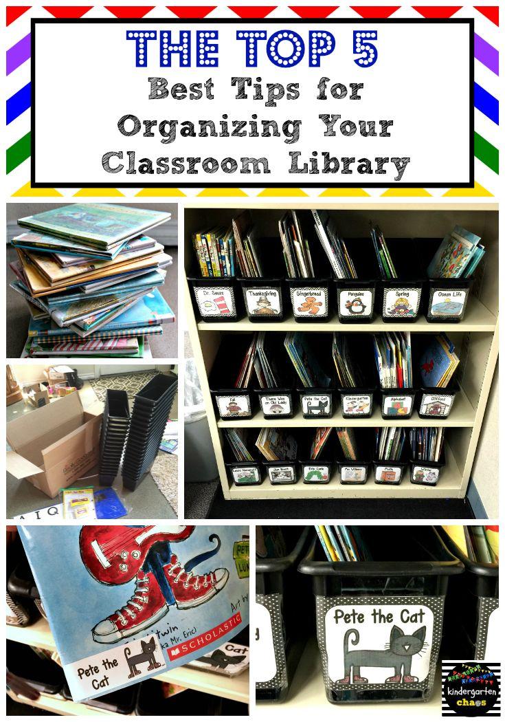 Classroom Library Organization - Kindergarten Chaos