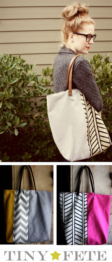I need to try n make a cute tote bag! Adding to the sewing machine craft to do list!