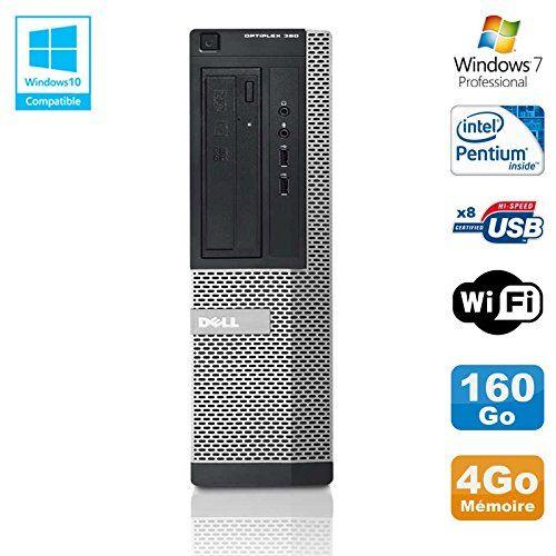 PC DELL Optiplex 390 DT G630 2.7Ghz 4Go 160Go Graveur DVD WIFI HDMI Win 7 Pro (Reconditionné Certifié)