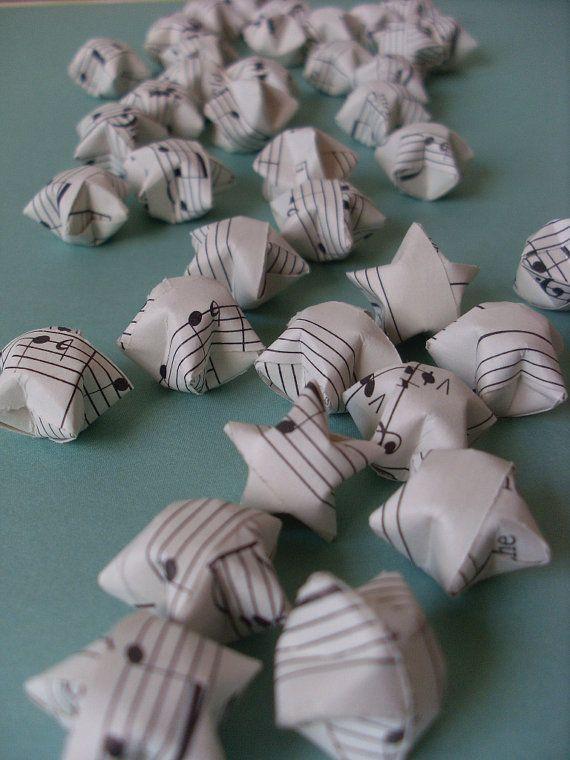 Stelle di Origami spartiti musicali d'epoca un di coppleshop