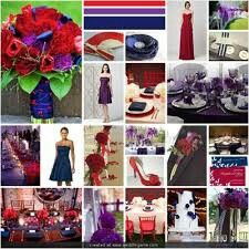 Blue Red And Purple Wedding Theme