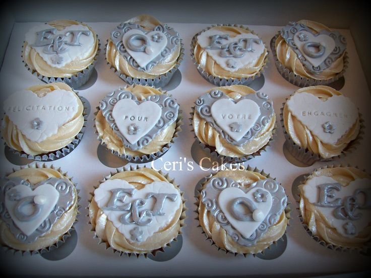 Cupcake Decorating Ideas For Engagement Party