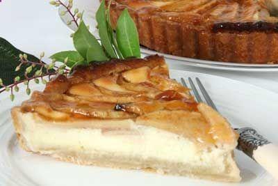 Almond Apple Cream Cheese Tart