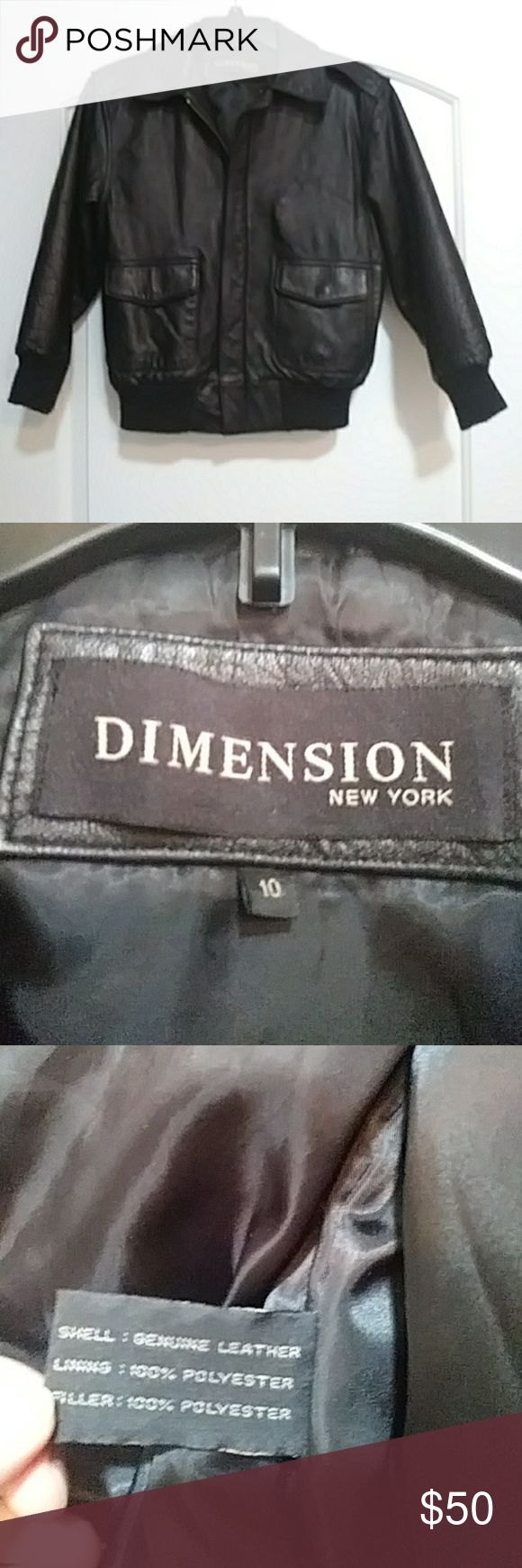 80s leather jacket This is a vintage leather jacket made in the 80s comma it's in great condition Dimension Jackets & Coats