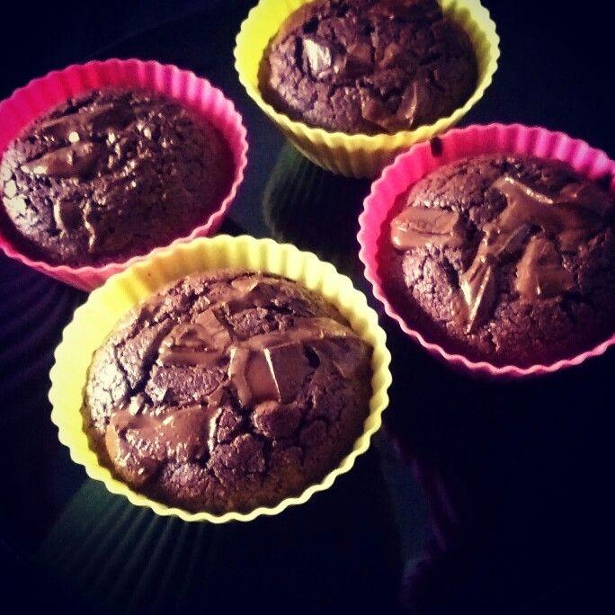 Koolhydraatarme chocolade cupcakes