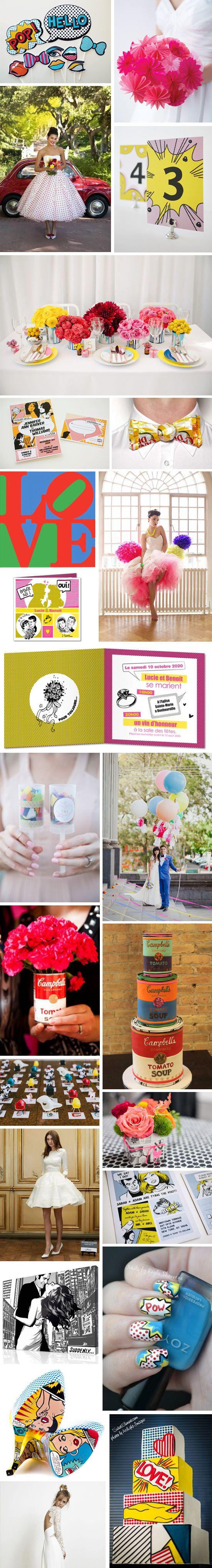 SOURCE [Inspiration] Mariage Pop Art - #demoisellecapeline wedding planner Bretagne et FRANCE (demoisellecapeline@gmail.com)