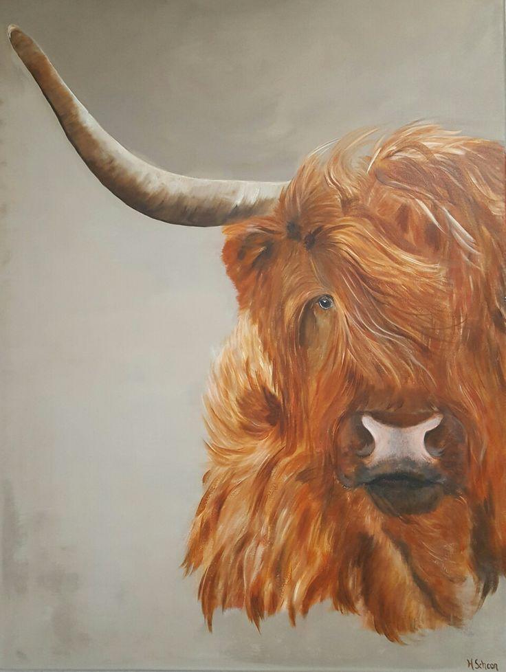 Schotse hooglander    www.schilderijenbydini.com
