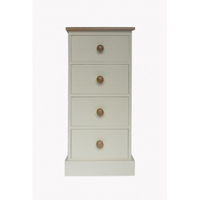 Portchester Pine Painted with Oak Tops 4 Drawer Wellington Chest  www.easyfurn.co.uk