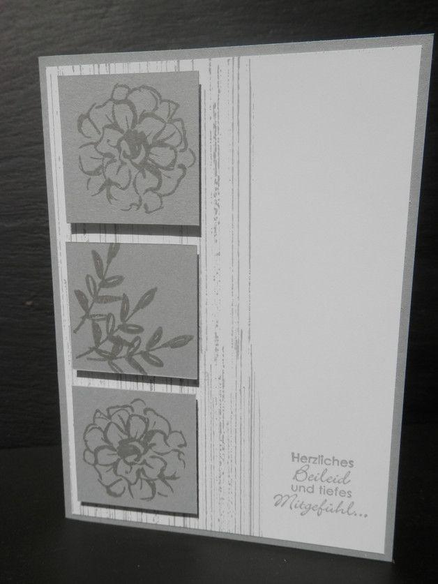 Diese dezente und geschmackvolle Karte wurde in liebevoller Handarbeit und unter Verwendung von Stampin up Produkten selbst gefertigt. Die Karte hat die Maße 14,5 x 10,5 cm.   Der Name Stampin up...