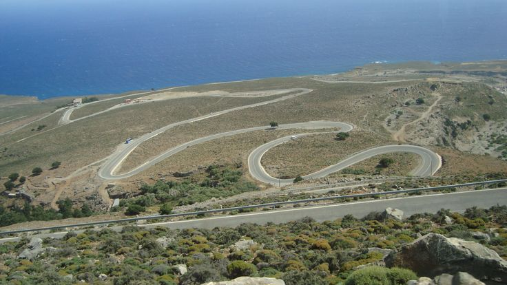 Road connecting  KALLIKRATIS and SFAKIA in CRETE