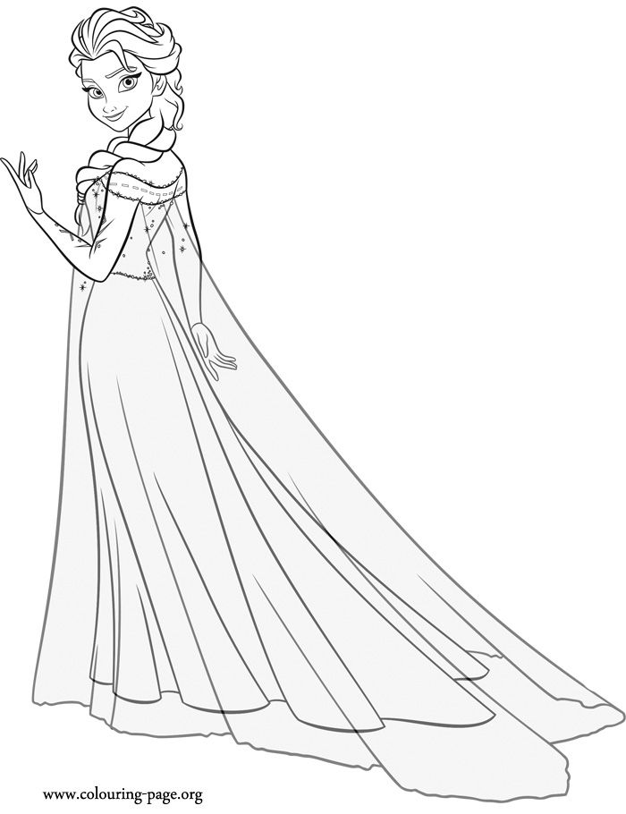 while you wait for the upcoming disney movie frozen fever have fun coloring this beautiful queen elsa coloring sheet