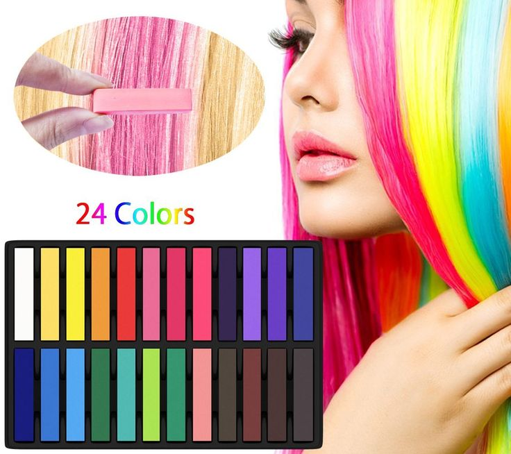Gogogu 24 Colors Hair Chalk Set Non-Toxic Temporary Washable Hair Dye Colors for Party and Cosplay >>> Read more details by clicking on the image. #hair