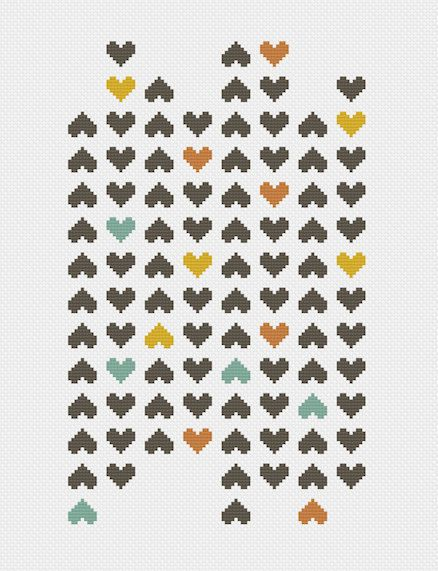 ▲▼▲ heart mosaic cross stitch pattern ▲▼▲ hand designed cross stitch pattern this pattern comes as a PDF file that you can immediately download after purchase. all our patterns include・ : color block symbols : list of DMC floss needed : choice of 14, 18, or 22 count layout : printable version of final stitched product ▲▼▲ pattern ▲▼▲ floss : 4 DMC colors fabric : pictured on white, but get creative and try something bold + unexpected stitches : 90w x 150h skill level : beginner : easy ▲▼▲...