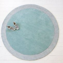 Little P Silver Moon Icy Blue Rug