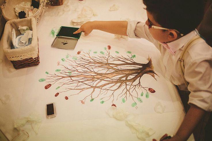 Árbol de firmas boda