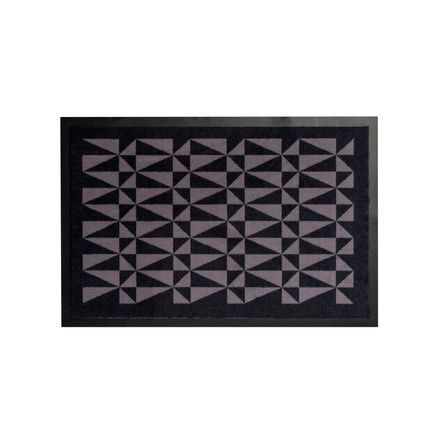tica copenhagen - food mat 60 x 90 cm, black / grey