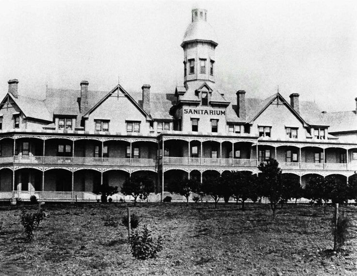 The Sanitarium, Wahroonga, Sydney, 1903 - Sydney Sanitarium opened in Wahroonga on 1 Jan 1903 with a bed capacity of 70 and was known as a 'home of health', a place where people learned to stay well. The original Hospital building was designed by Dr Merritt Kellogg, brother of Dr John Harvey Kellogg. The Sanitarium became widely known as the 'San' and in 1973 the Hospitals name was changed to the Sydney Adventist Hospital, but is still fondly referred to as 'the San' Hospital.