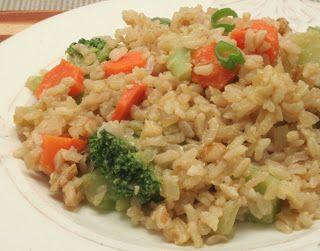 Ultimate Daniel Fast: Daniel Fast main dish with brown rice and veggies.