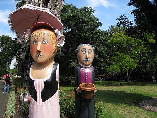 Bollards in Geelong Botanical Gardens, Victoria