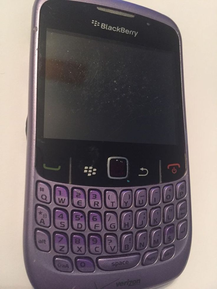 Blackberry Curve 8530 Smartphone Lavender/Purple Verizon + New Case & Battery.  #BlackBerry #Bar #curve