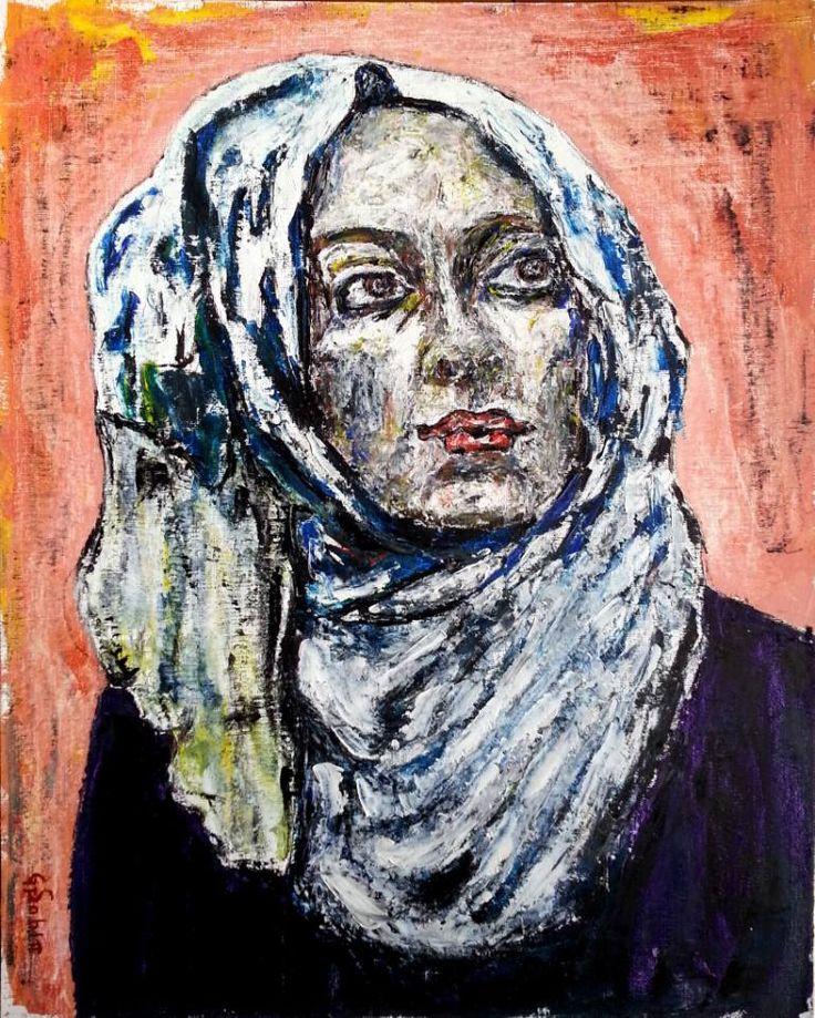 "Saatchi Art Artist George Sabin; Painting, ""Young muslim"" #art"