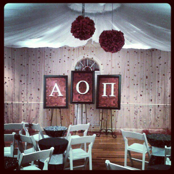 such cute recruitment decorations Pref night ceremony in the chapter room