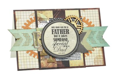 Kaisercraft Time Machine Father's Day Card  By Alicia McNamara