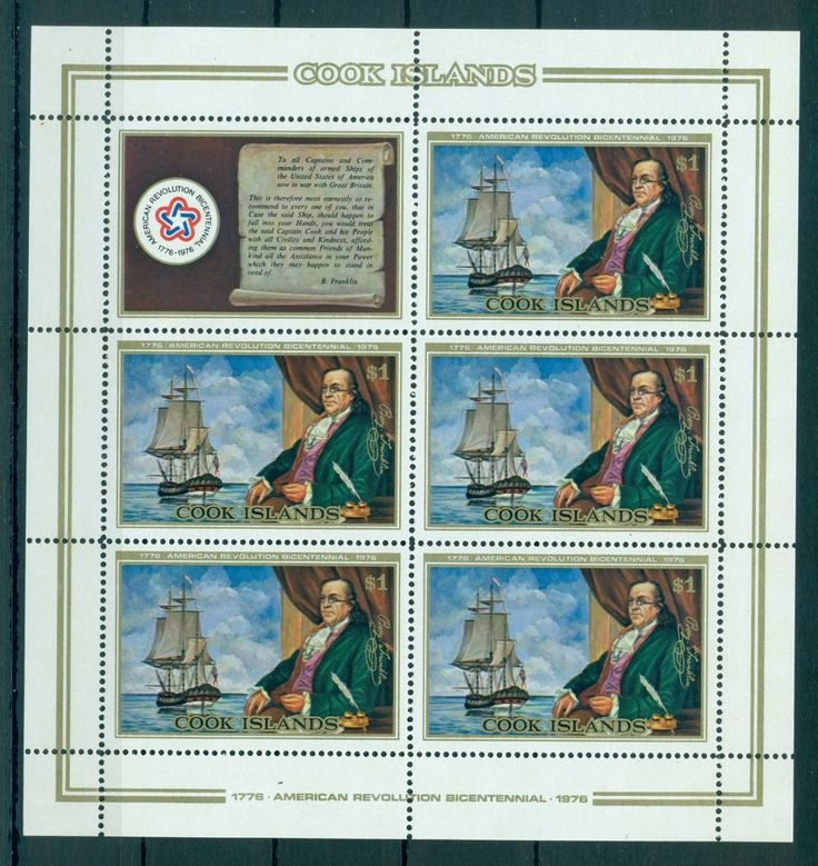 Cook Islands 1976 M Sheet MNH American Revolution Bicentenary MI No 485KB | eBay