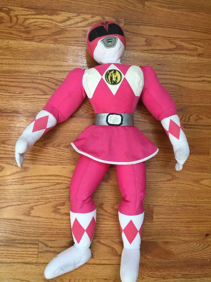 "1990s Mighty Morphin Power Rangers Original Pink Ranger Plush Stuffed Doll 28""  | eBay"