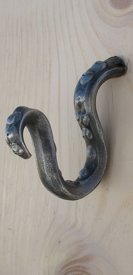 Octopus tentacle wall hook octopi pinterest beautiful octopus tentacles and hooks - Coat hook octopus ...
