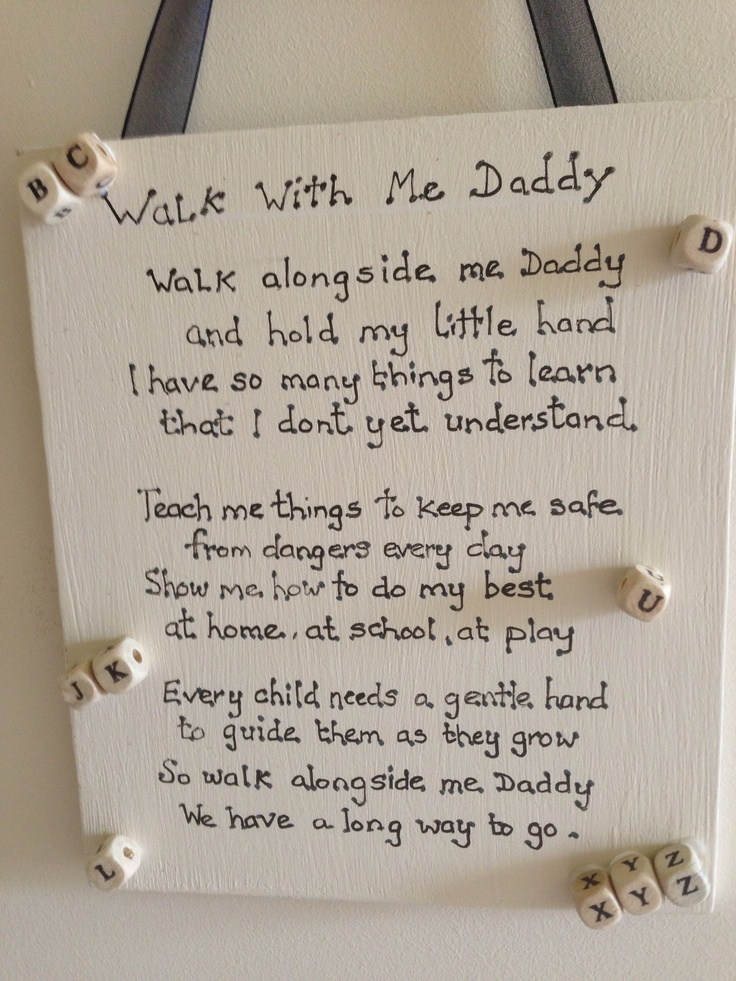 Daddy plaque