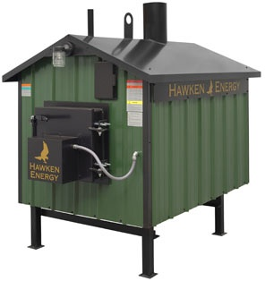 Hawken Energy Wood Burning Furnace Model HE-1100:  The HE-1100 furnace is designed to heat one building similar to an average or larger sized home. You will enjoy putting money in the bank, instead of paying huge heating bills!