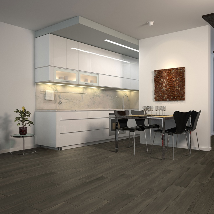 Indoor Tiling Ideas: Plank Blackwood from Beaumont Tiles