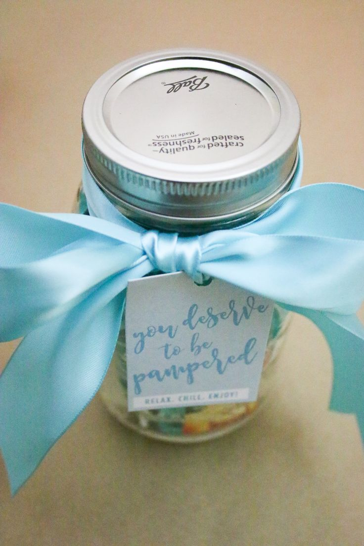 Mason Jar Gift Ideas - Mason Jar Spa Kit   Budget Savvy Bride