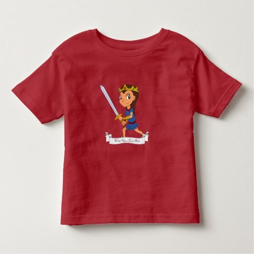 Custom warrior princess cartoon toddler t-shirt